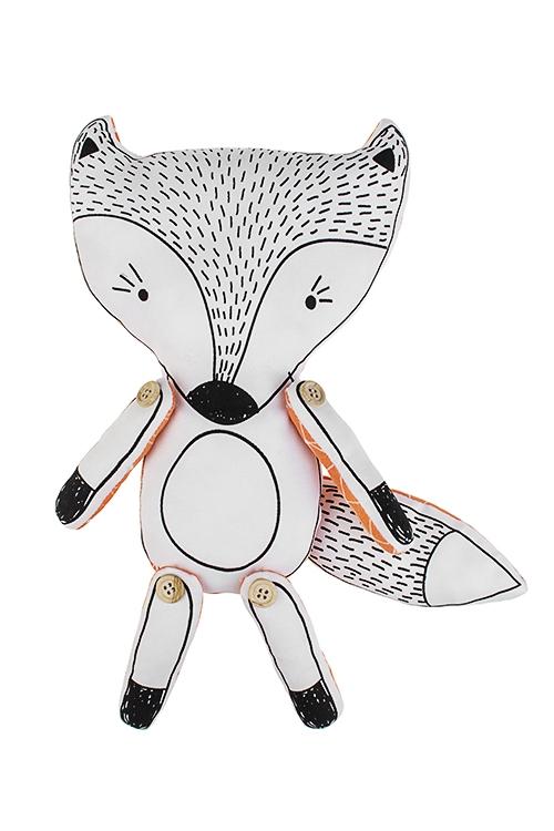 Игрушка мягконабивная ЛисенокПодарки ко дню рождения<br>36*23см, текстиль, бело-оранж.<br>
