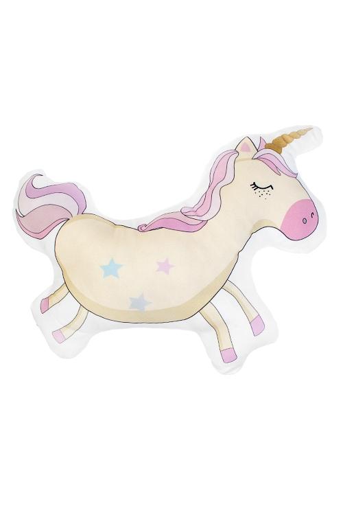 Игрушка мягконабивная Волшебный единорожкаИгрушки и куклы<br>36*31см, текстиль, желто-розовая<br>
