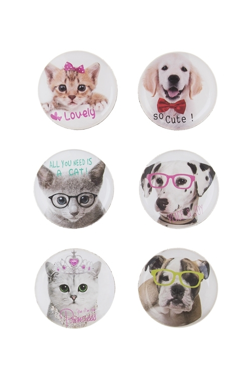 Набор держателей-магнитов Милые животныеСувениры и упаковка<br>Пластм., резина<br>