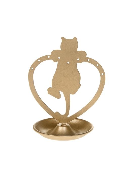 Держатель для украшений Игривый котенокШкатулки и наборы по уходу<br>Выс=13см, металл, золот.<br>