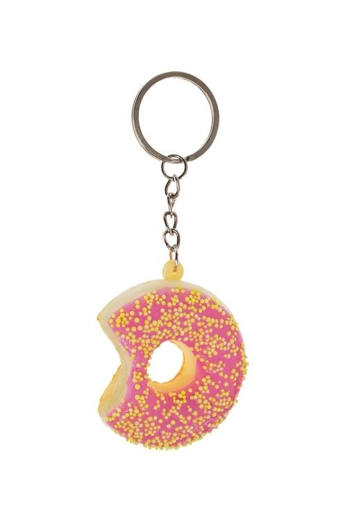 Брелок ПончикСувениры на День рождения<br>Полиэстер, розовый<br>