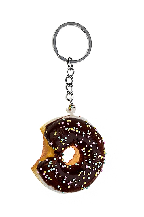 Брелок ПончикСувениры и упаковка<br>Полиэстер, коричн.<br>