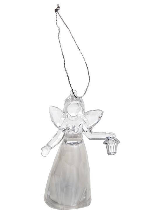 Украшение декор. светящееся Веселый ангелочекПодарки<br>Выс=11см, акрил, подвесное (3 вида), на батар.<br>