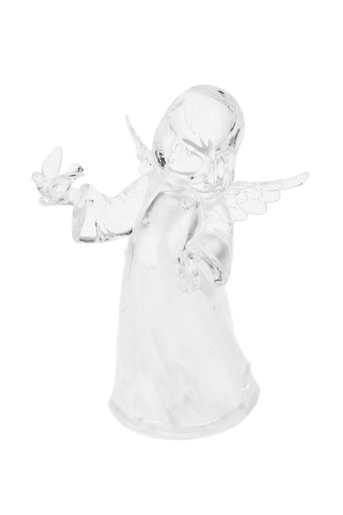 Фигурка светящаяся Ангелок с птичкойРазвлечения и вечеринки<br>Выс=16см, акрил, на батар.<br>