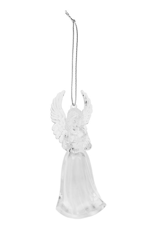 Украшение декоративное светящееся АнгелокСветящиеся украшения<br>Выс=12см, акрил, подвесное (2 вида), на батар.<br>