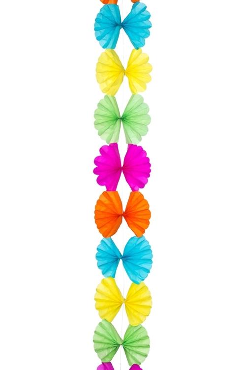 Украшение декоративное ГирляндаДекоративные гирлянды и подвески<br>Дл=2.1м, бумага, разноцв.<br>