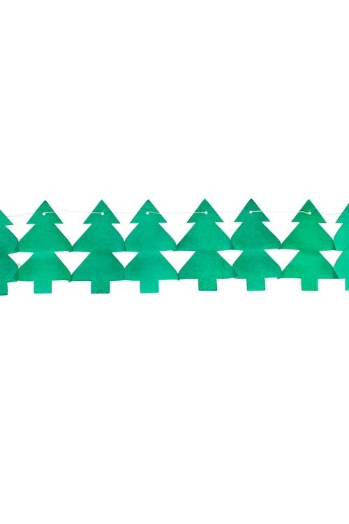 Украшение декоративное ГирляндаСувениры и упаковка<br>Дл=3м, бумага, зеленое<br>
