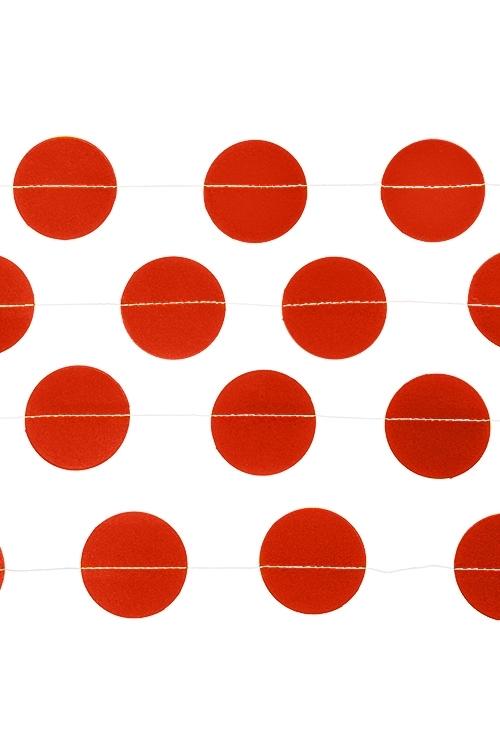 Украшение декоративное Стильная гирляндаРазвлечения и вечеринки<br>Дл=3м, бумага, красное<br>