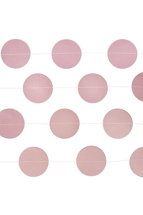 Украшение декоративное Стильная гирляндаУкрашения для вечеринок<br>Дл=3м, бумага, розовое<br>