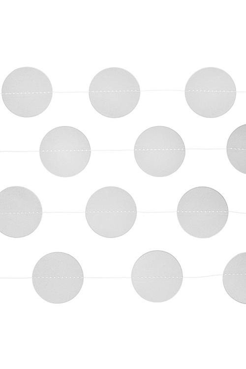 Украшение декоративное Стильная гирляндаРазвлечения и вечеринки<br>Дл=3м, бумага, белое<br>