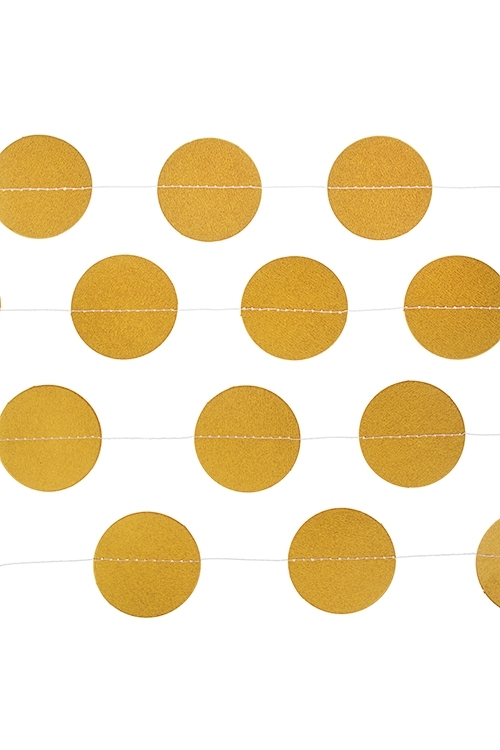 Украшение декоративное Стильная гирляндаРазвлечения и вечеринки<br>Дл=3м, бумага, золот.<br>