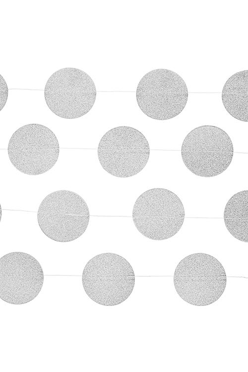 Украшение декоративное Стильная гирляндаУкрашения для вечеринок<br>Дл=3м, бумага, серебр.<br>