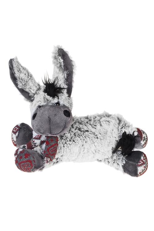 Игрушка мягкая Милый осликПлюшевые игрушки<br>Дл=25см, текстиль, серая<br>