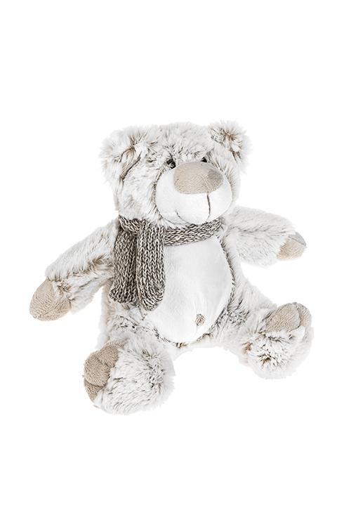 Игрушка мягкая Мишка-топтыжкаИгрушки и куклы<br>Выс=20см, текстиль, бело-крем.<br>
