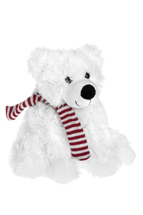 Игрушка мягкая Белый мишуткаИгрушки и куклы<br>Выс=20см, текстиль, белая<br>