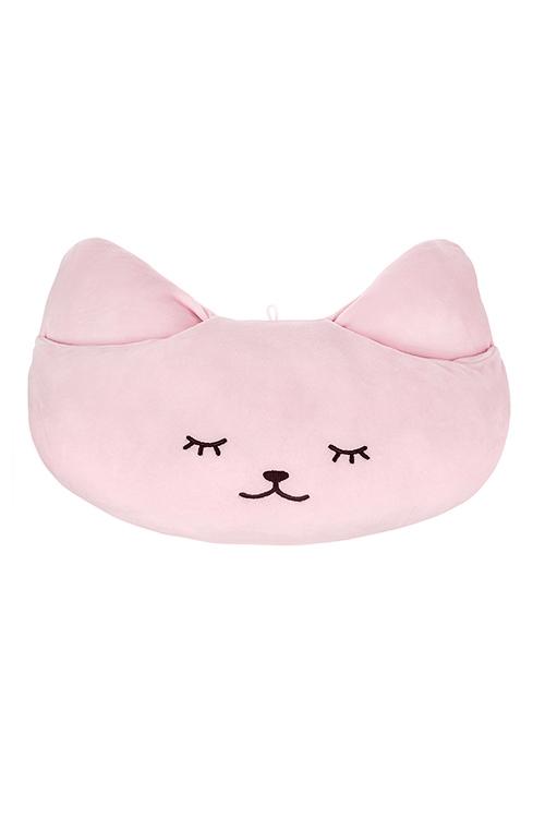 Игрушка мягконабивная Спящий котикИгрушки и куклы<br>29*43см, текстиль, розовая, с кармашками<br>