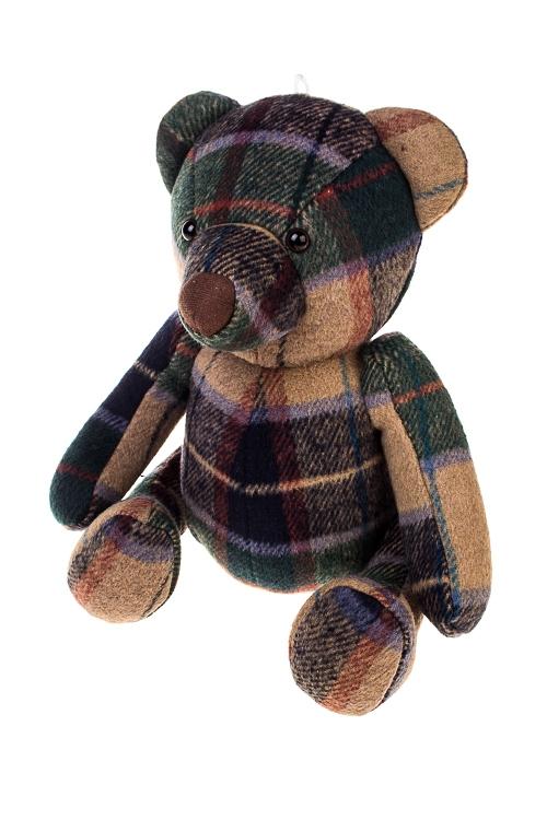Игрушка мягконабивная МишуткаИгрушки и куклы<br>22*21*32см, текстиль, крем.-зелено-синяя<br>