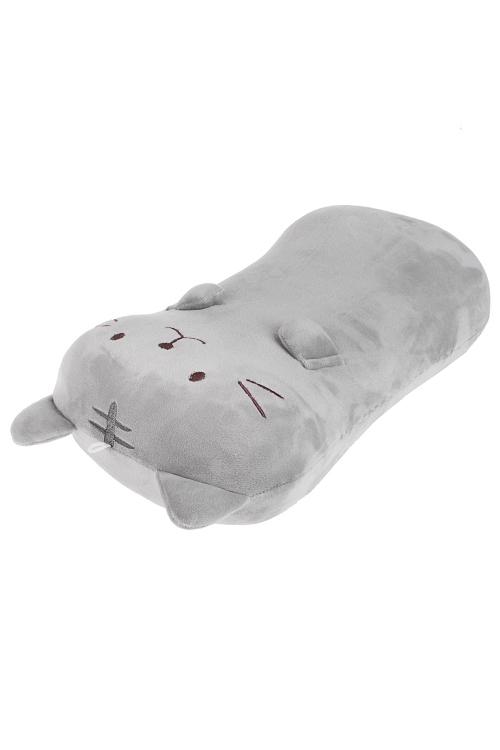 Подушка Котик - плюшевый животикИнтерьер<br>30*44см, текстиль, серая<br>
