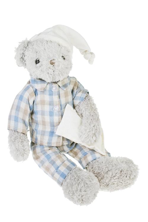 Игрушка мягкая ароматизированная Мишка-малышкаПлюшевые игрушки<br>Выс=33см, текстиль, серо-синяя, с ароматом розы<br>
