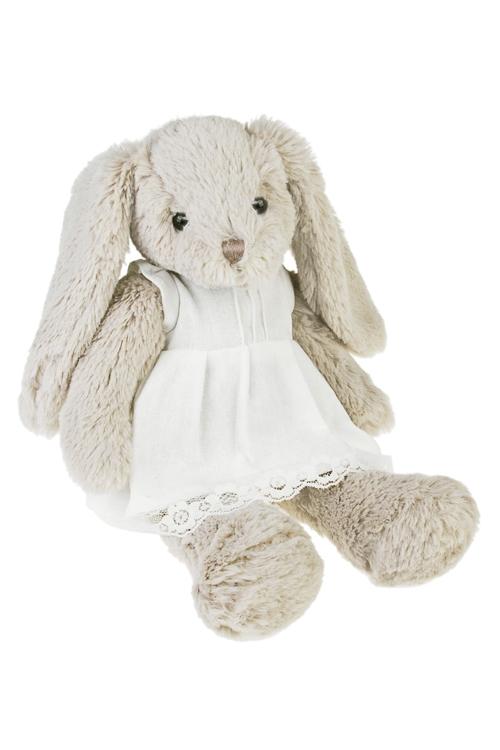 Игрушка мягкая ароматизированная ЗайкаПодарки ко дню рождения<br>Выс=33см, текстиль, серо-белая, с ароматом сладкой ваты (2 вида)<br>