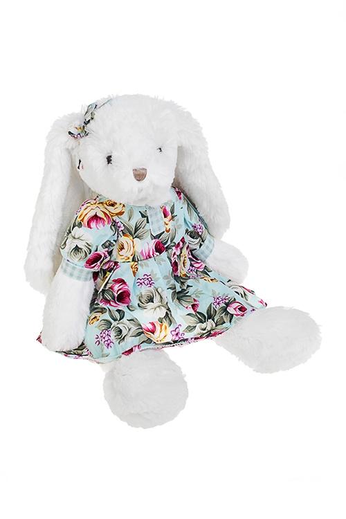 Игрушка мягкая ароматизированная ЗайкаПлюшевые игрушки<br>Выс=33см, текстиль, бело-голубая, с ароматом розы (2 вида)<br>