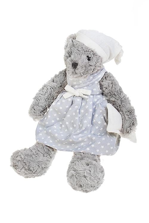Игрушка мягкая ароматизированная Сонный мишкаПлюшевые игрушки<br>Выс=33см, текстиль, серо-голубая, с аром. лаванды (2 вида)<br>