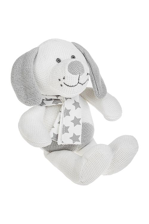 Игрушка мягкая ароматизированная ХэппиИгрушки и куклы<br>Выс=25см, текстиль, серо-белая, с ароматом ванили<br>
