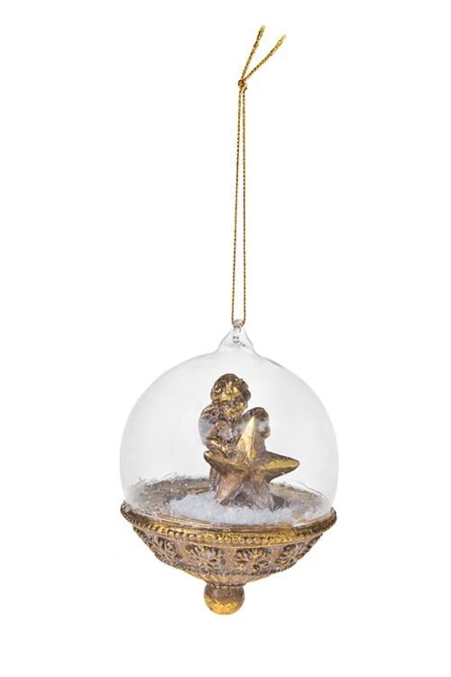 Украшение для интерьера Звездный ангелПодарки<br>8*11см, полирезин, золот., подвесное<br>