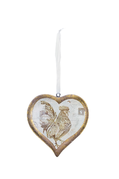 Украшение декоративное Сердце- Счастливый петушок