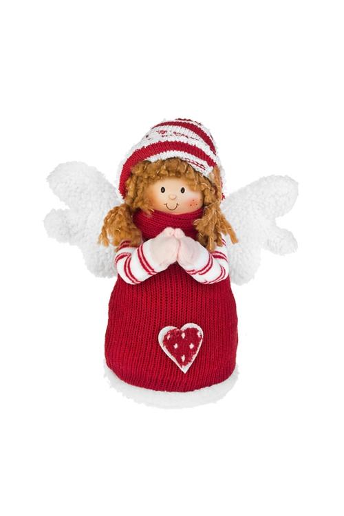 Кукла декоративная Милый ангелочекКуклы<br>Выс=20см, полирезин, текстиль, бело-красная (2 вида)<br>