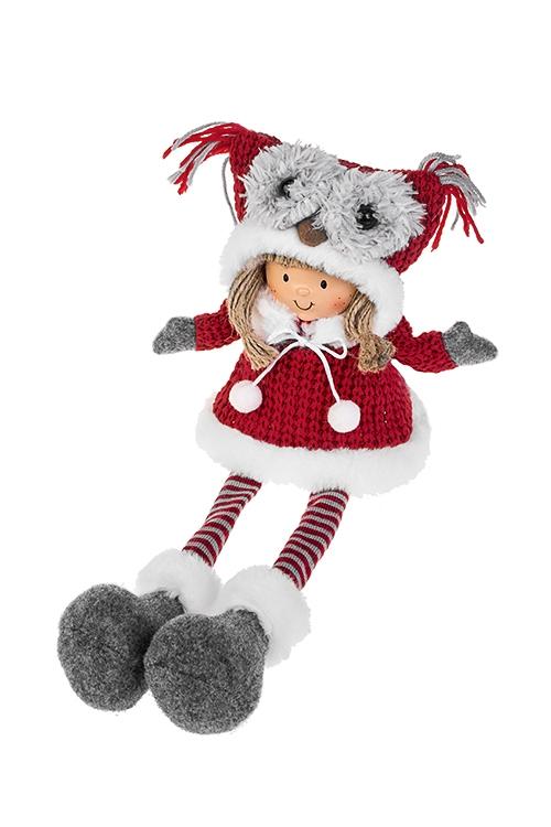 Кукла декоративная МилашкаТекстильные игрушки<br>Выс=36см, полирезин, текстиль, песок, красно-бело-серая (2 вида)<br>