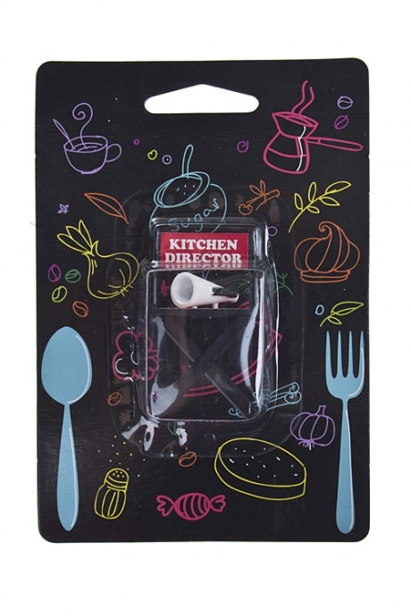 Держатель-магнит Главный на кухнеСувениры и упаковка<br>4*3*6см, пластм.<br>