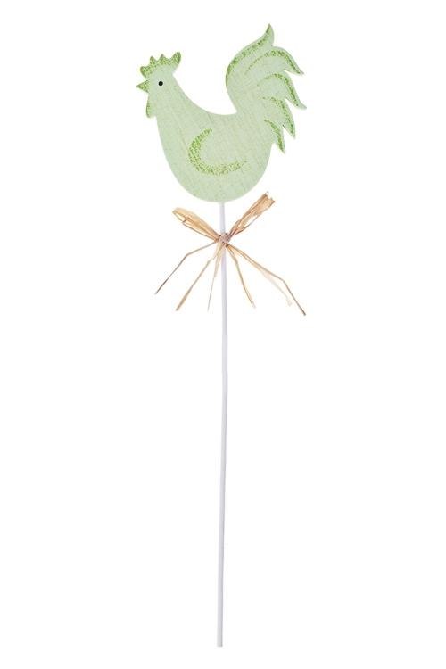 Украшение декоративное КурочкаСувениры на палке<br>Выс=7см, МДФ, на палке (2 цвета)<br>
