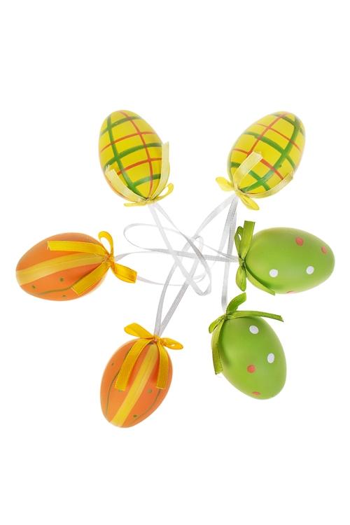 Набор яиц декоративных АссортиЯйца пасхальные<br>Пласт., подвесные<br>