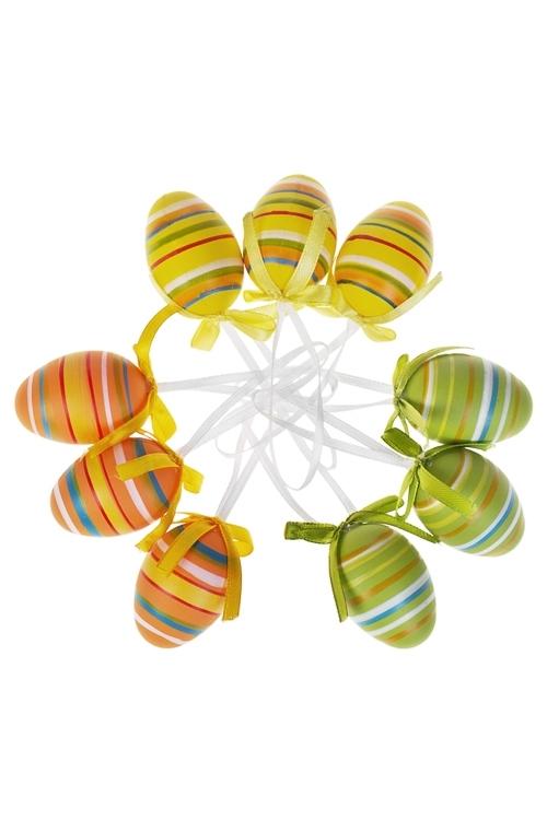 Набор яиц декоративных АссортиПодарки<br>Пласт., подвесные<br>