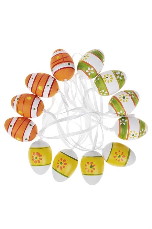 Набор яиц декоративных ПолоскиЯйца пасхальные<br>Пласт., подвесные<br>