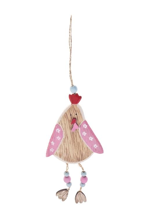 Украшение декоративное Цыпленок-девочкаПасхальные украшения<br>Выс=6см, МДФ, подвесное<br>