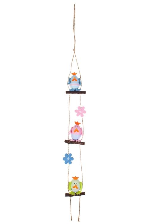 Украшение декоративное Гирлянда из курочекПодарки<br>Дл=150см, пластм., подвесное<br>