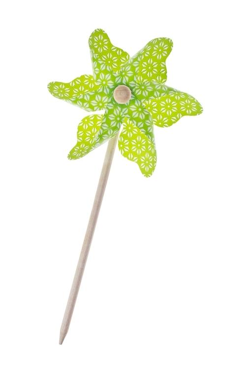 Украшение декоративное ВетерокСувениры на палке<br>Д=14см, пластм., зеленое<br>