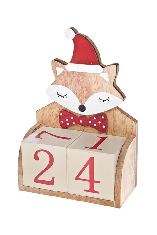 Календарь настольный Спящий лисенокНастольные календари<br>11*5*16см, дерево<br>