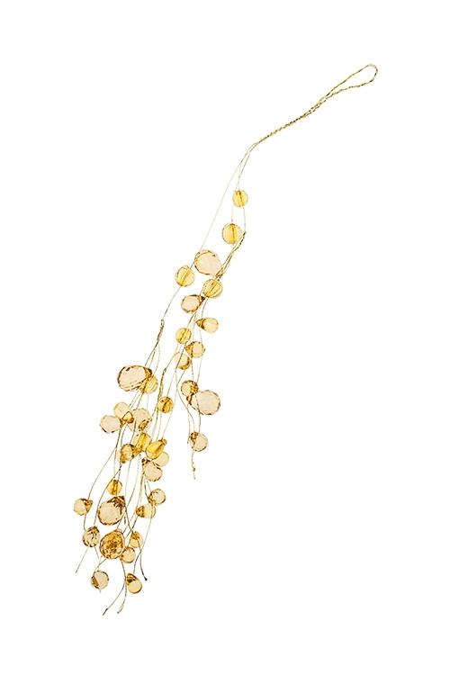 Украшение декоративное КапелькиДекоративные гирлянды и подвески<br>Выс=31см, акрил, металл, золот., подвесное<br>