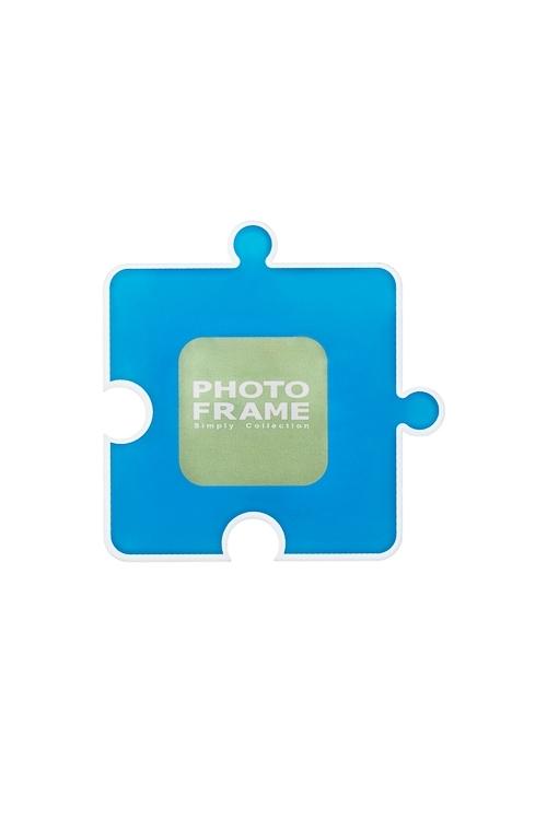 Держатель-магнит с фоторамкой ПазлПластиковые фоторамки<br>8*8см, фото 4*4см, акрил (4 вида)<br>