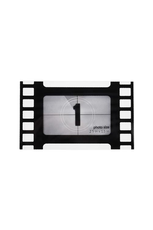 Держатель-магнит с фоторамкой КадрИнтерьер<br>10*6см, фото 6*3.5см, пласт., черно-белый<br>