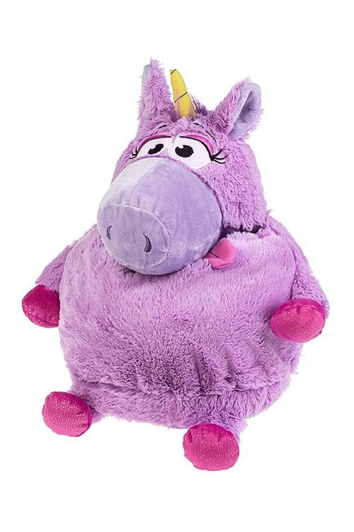 Игрушка мягконабивная Волшебный единорожкаПлюшевые игрушки<br>Выс=30см, текстиль, сирен., с отдел. для хранения<br>
