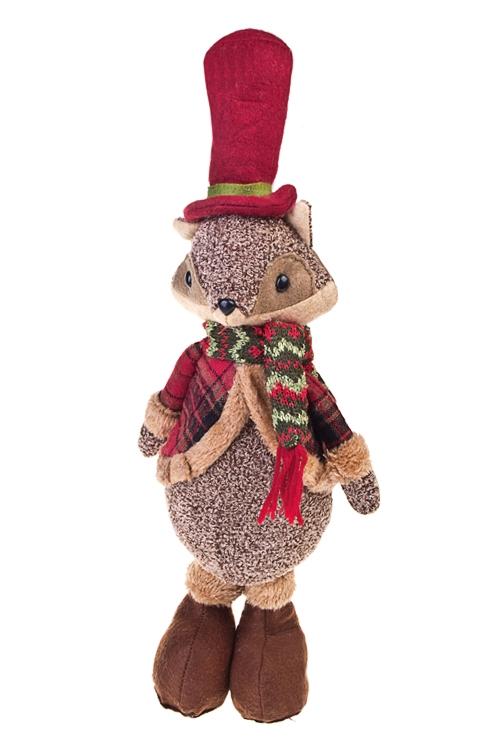 Игрушка мягкая ЛисенокИгрушки и куклы<br>Выс=40см, текстиль, коричн.-красная, подвесная<br>