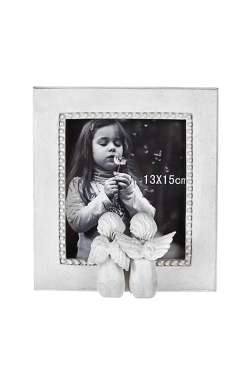 Рамка для фото Мечтающие ангелочкиПластиковые фоторамки<br>19*8*21см, фото 13*15см, полирезин, крем.<br>
