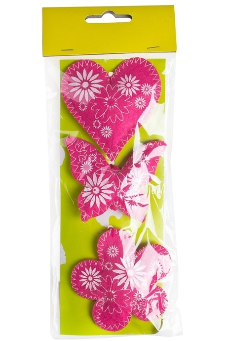 Набор украшений декоративных ВеснаДекоративные гирлянды и подвески<br>Выс=7.5см, войлок, подвесной (3 вида)<br>