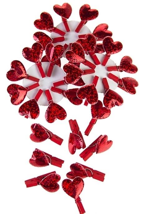 Сувенир Страстное сердечкоСувениры и упаковка<br>Выс=3.5см, текстиль, дерево, на прищепке<br>