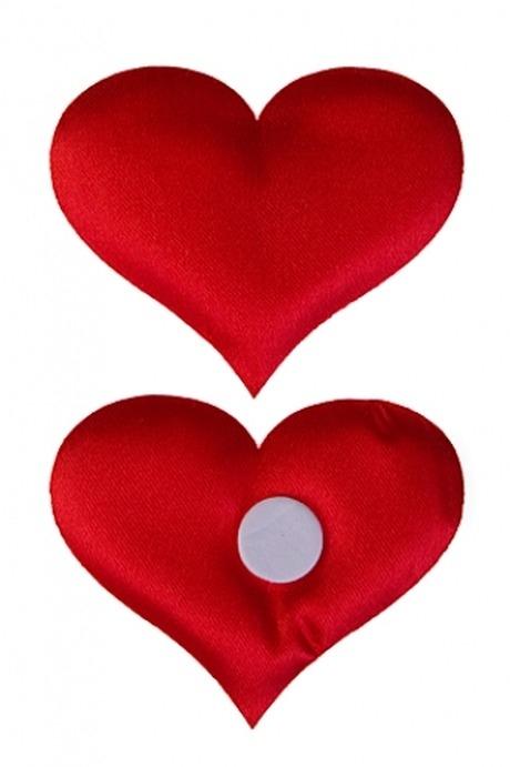 Набор сувениров ЧувствоСувениры на липучке<br>9-предм., Выс=6см, сатин, красный, на липучке, в блистере<br>