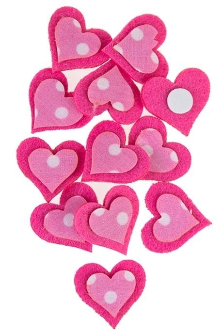 Набор сувениров Розовые сердечкиСувениры на липучке<br>Войлок, на липучке, в блистере<br>